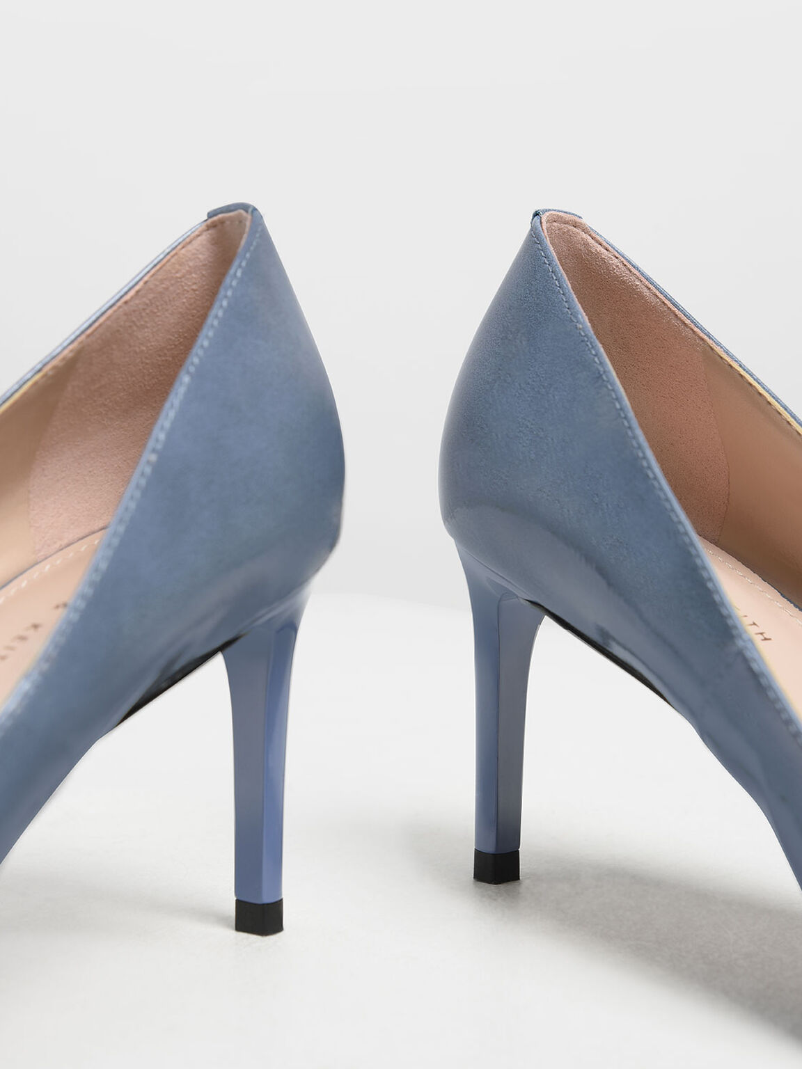 Classic Pointed Toe Pumps, Light Blue, hi-res