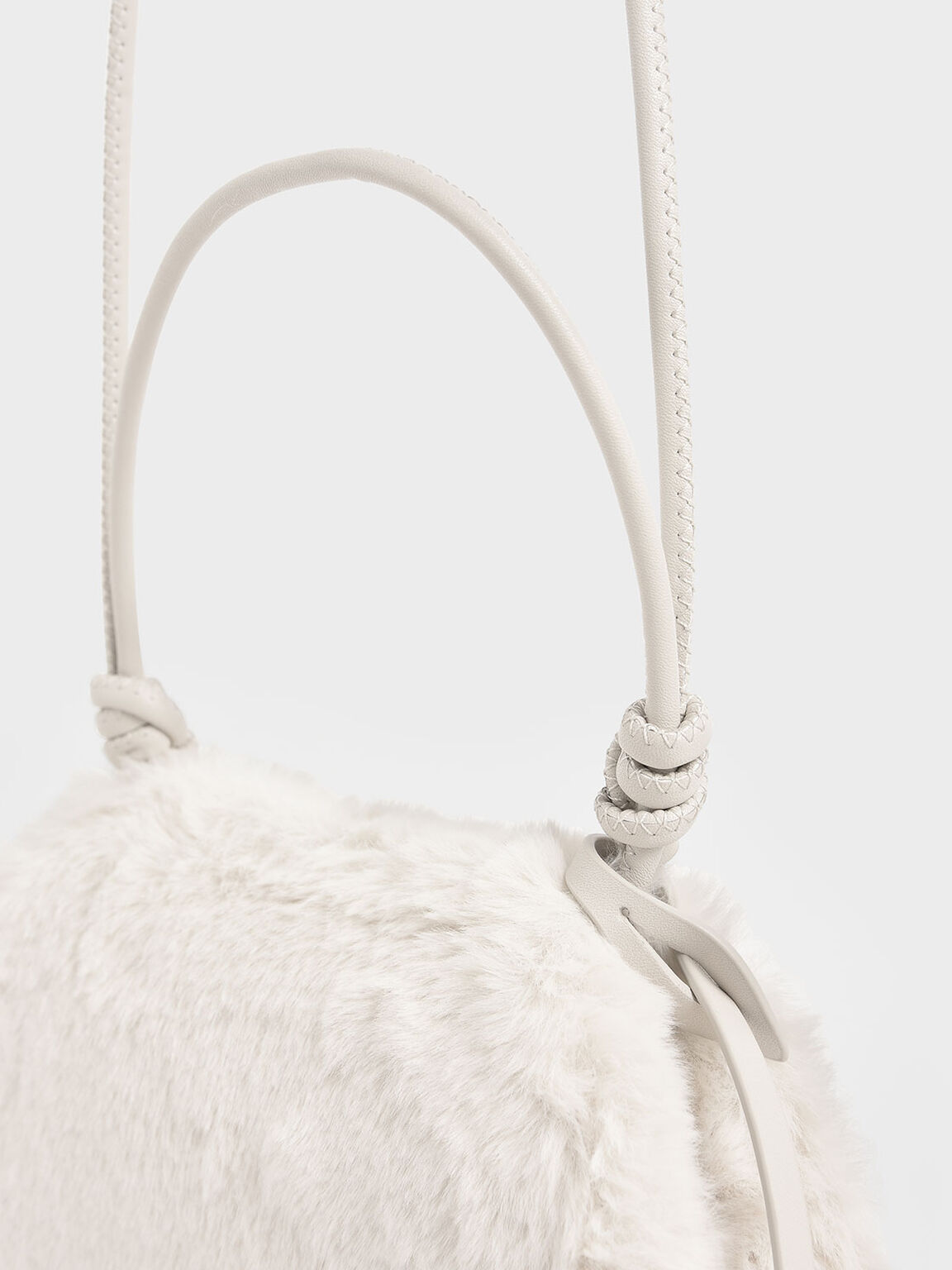 Textured Mini Crossbody Bag, Cream, hi-res