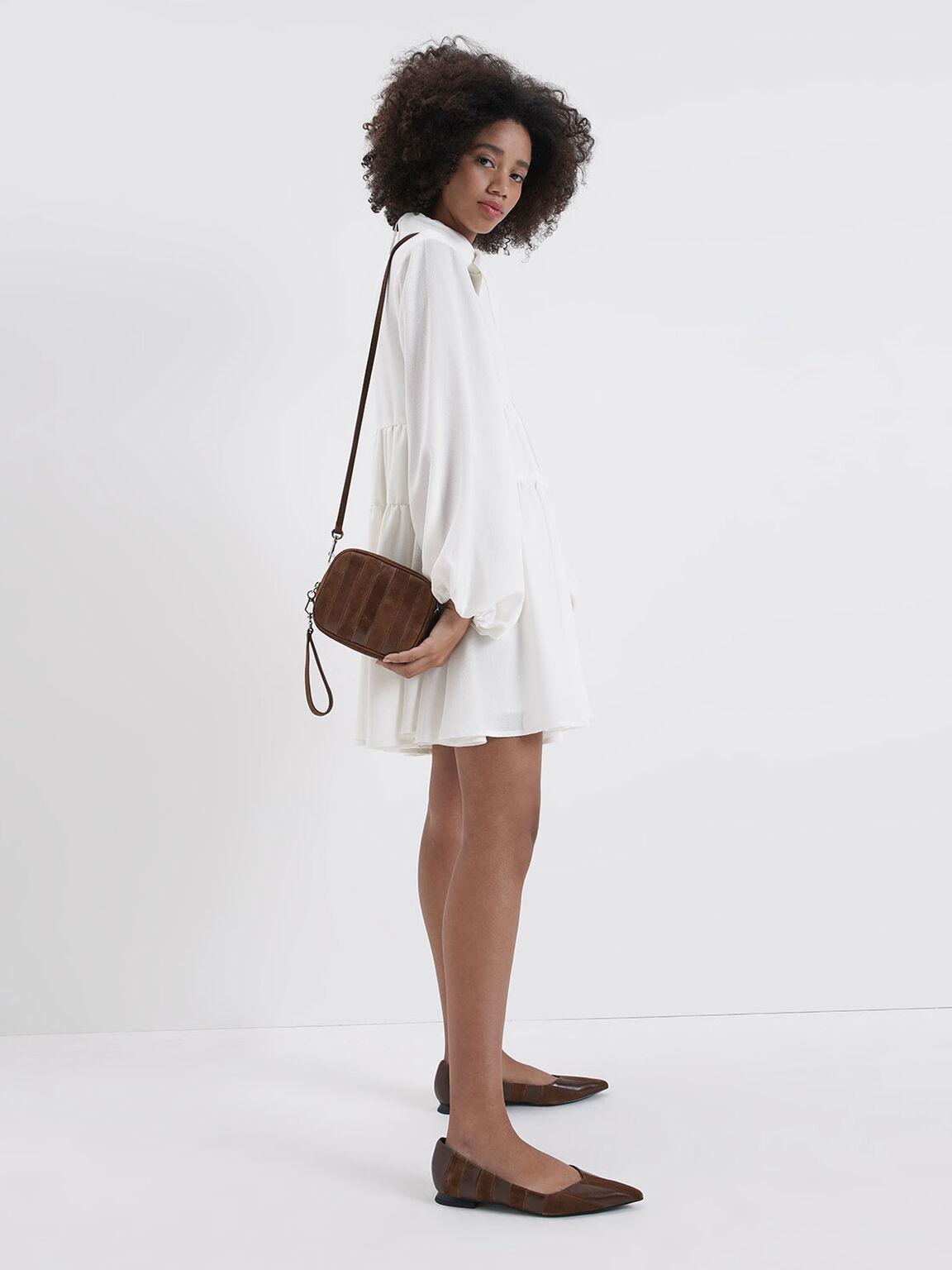 Leather Mini Crossbody Bag (Kid Suede), Cognac, hi-res