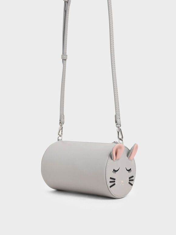 'Rat Zodiac' Cylindrical Bag, Grey, hi-res