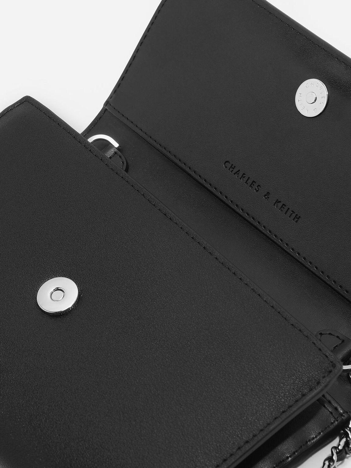 Front Flap Wallet, Black, hi-res