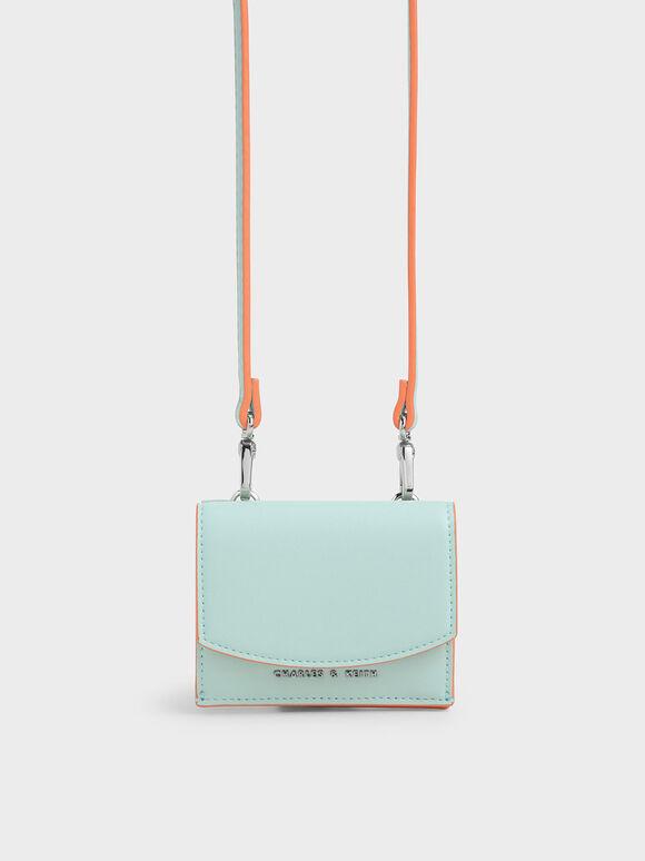 Mini Short Wallet, Mint Blue, hi-res
