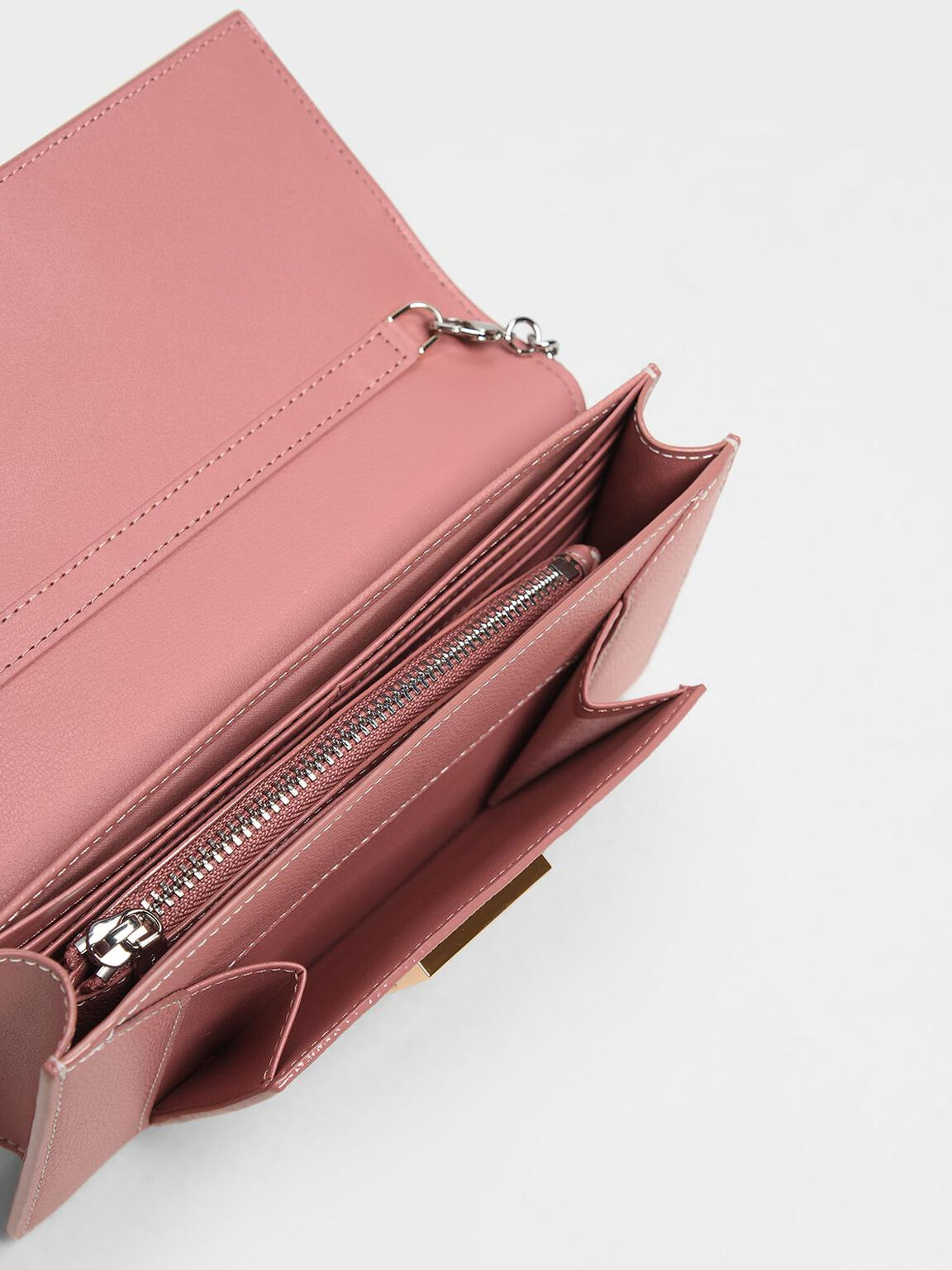 Chain Wallet, Pink, hi-res