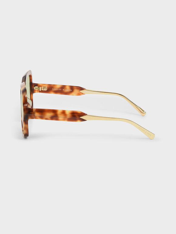 方形粗框墨鏡, 玳瑁棕, hi-res
