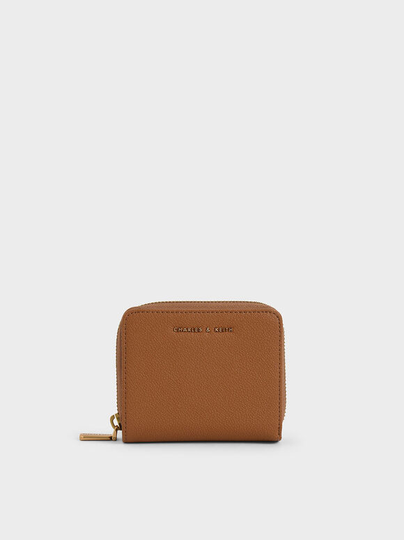 Small Zip-Around Wallet, Camel, hi-res
