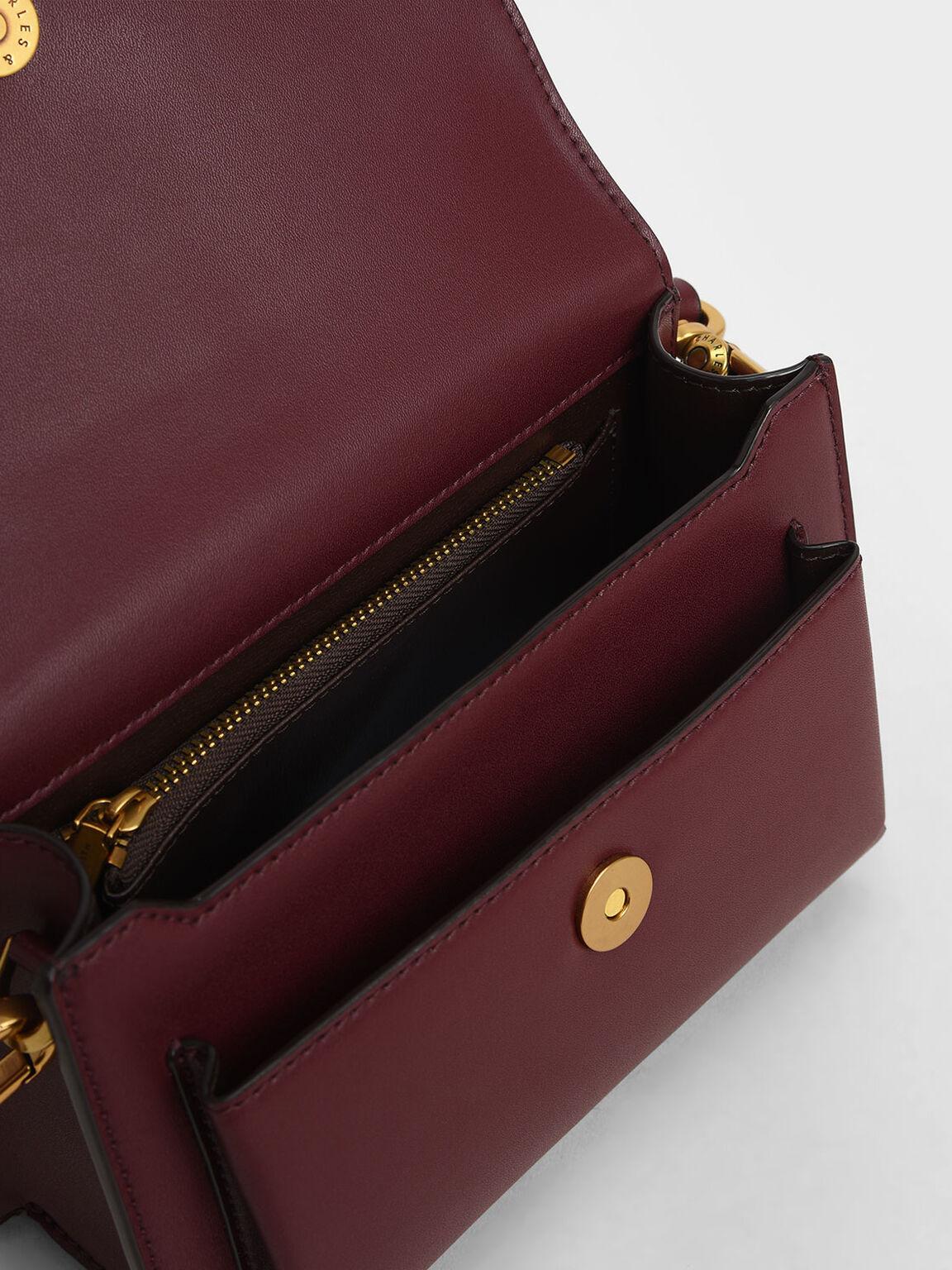Envelope Crossbody Bag, Burgundy, hi-res