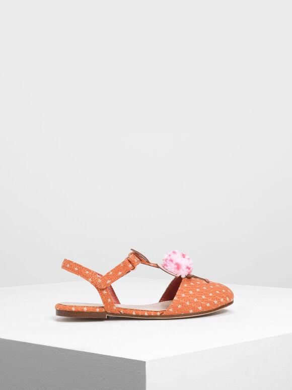 兒童火烈鳥涼鞋, 橘色, hi-res