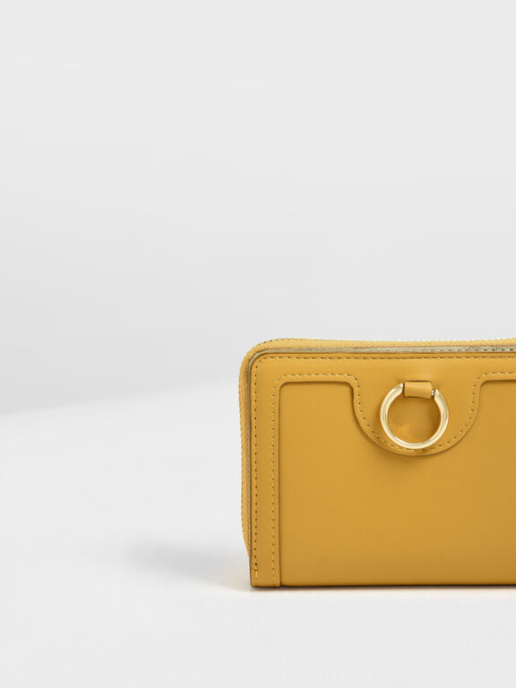Ring Detail Wallet, Mustard