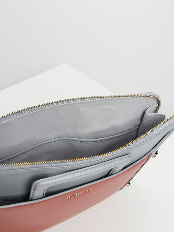 Stud Detail Laptop Bag, Multi, hi-res