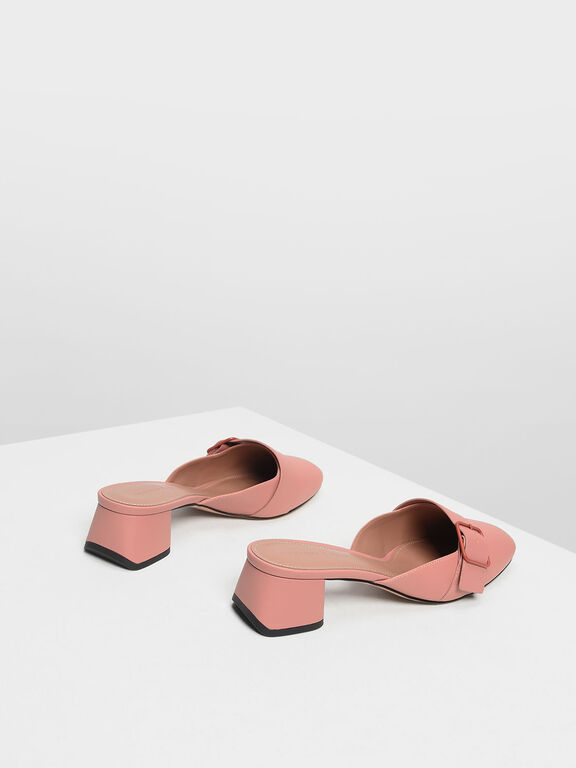 Buckle Mules, Blush, hi-res