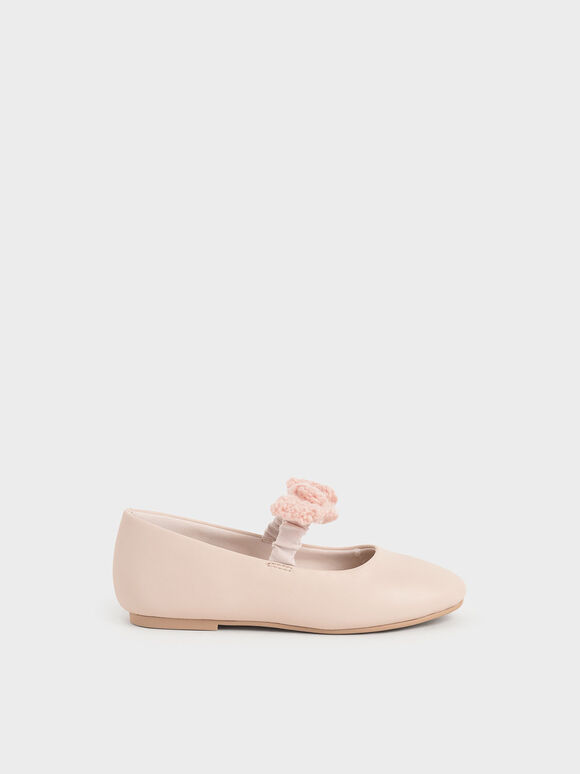 兒童蝴蝶結瑪莉珍鞋, 淺粉色, hi-res