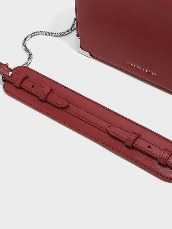 Front Flap Sling Bag, Red, hi-res