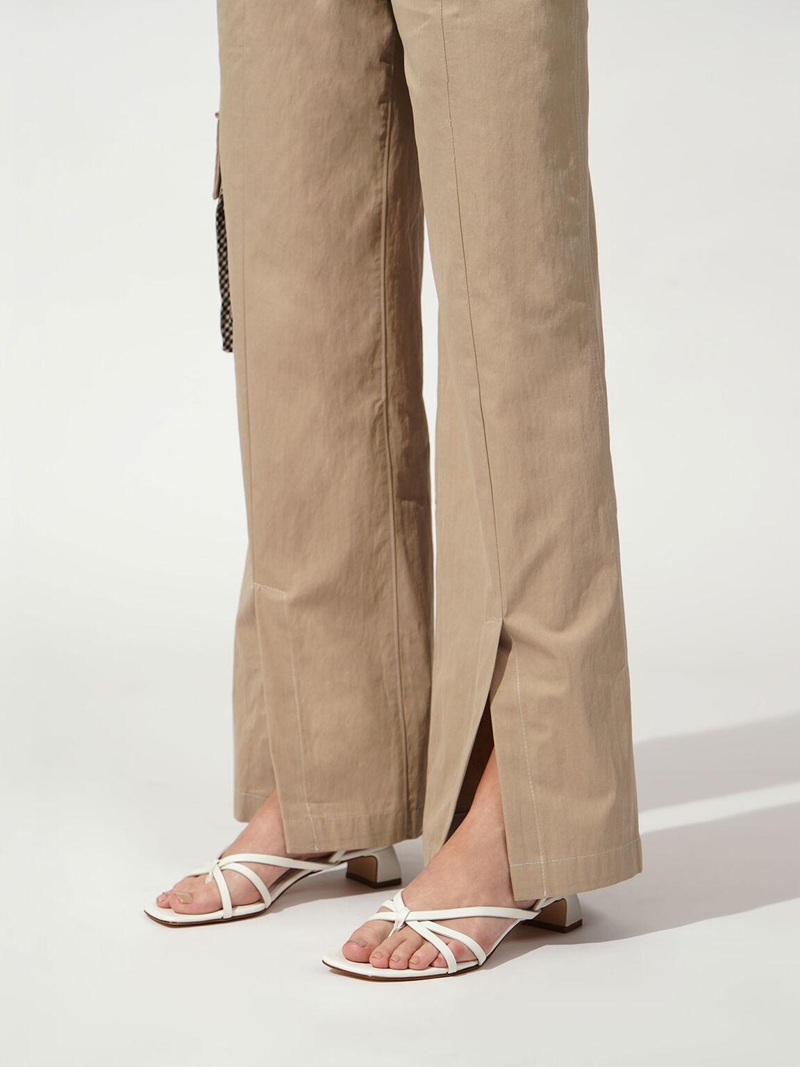 交叉夾腳涼鞋, 白色, hi-res