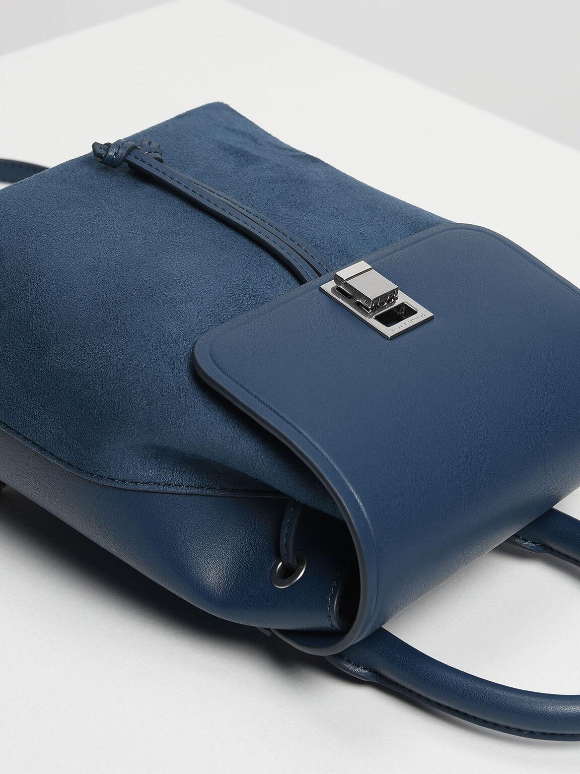 Classic Push Lock Backpack, Blue, hi-res