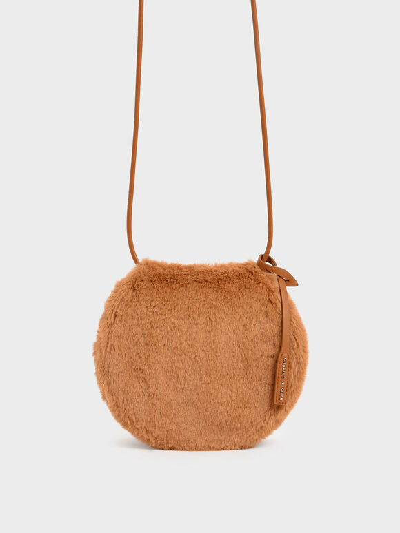 Textured Mini Crossbody Bag, Tan, hi-res