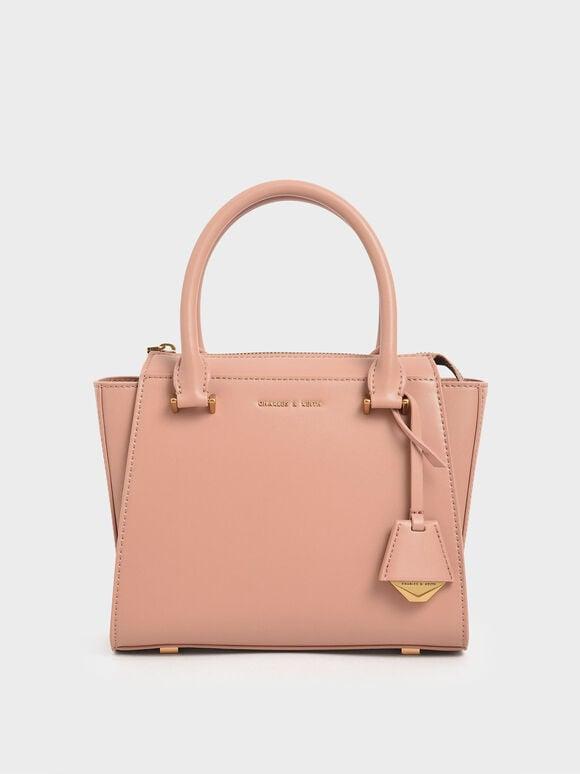 經典小型手提包, 嫩粉色, hi-res