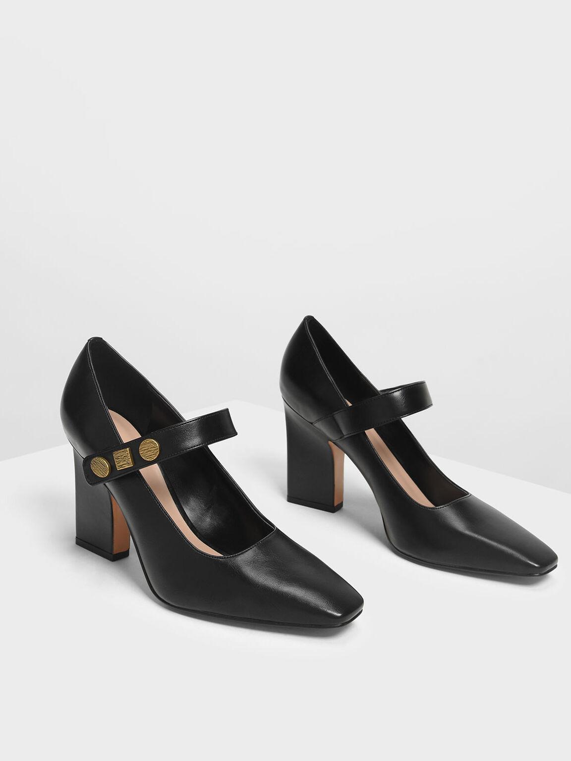 復古瑪莉珍鞋, 黑色, hi-res