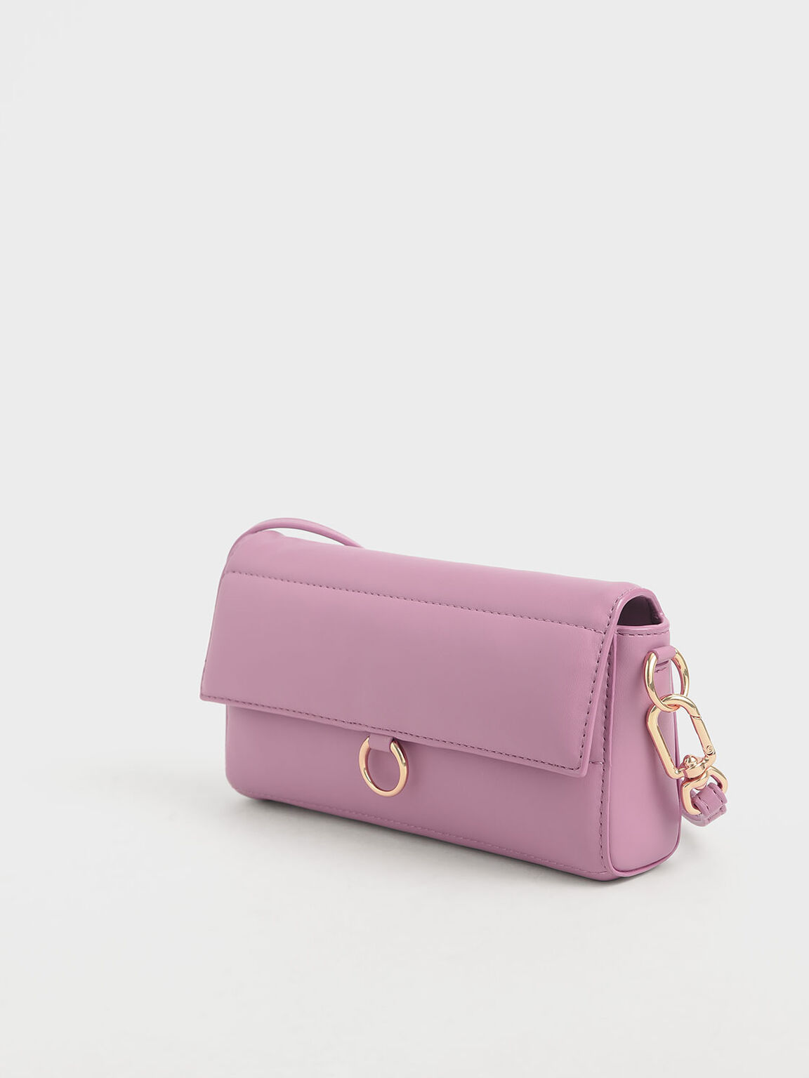 Mini Quilted Pouch, Pink, hi-res