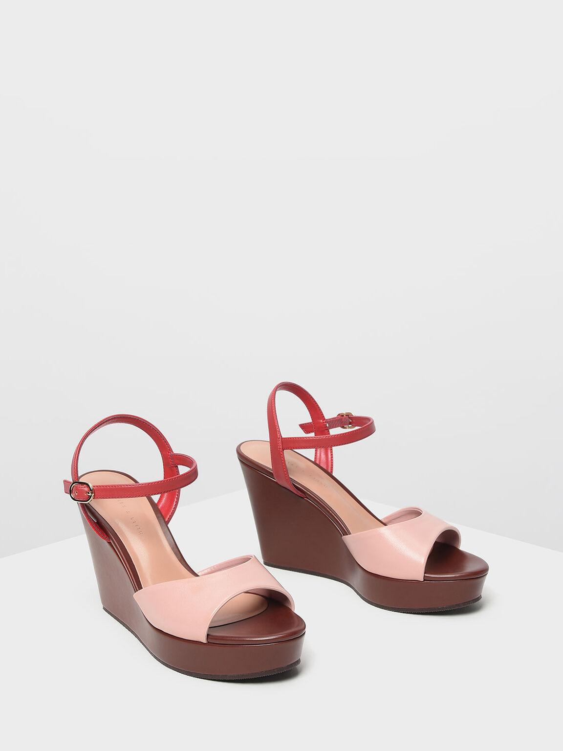 Ankle Strap Wedges, Multi, hi-res