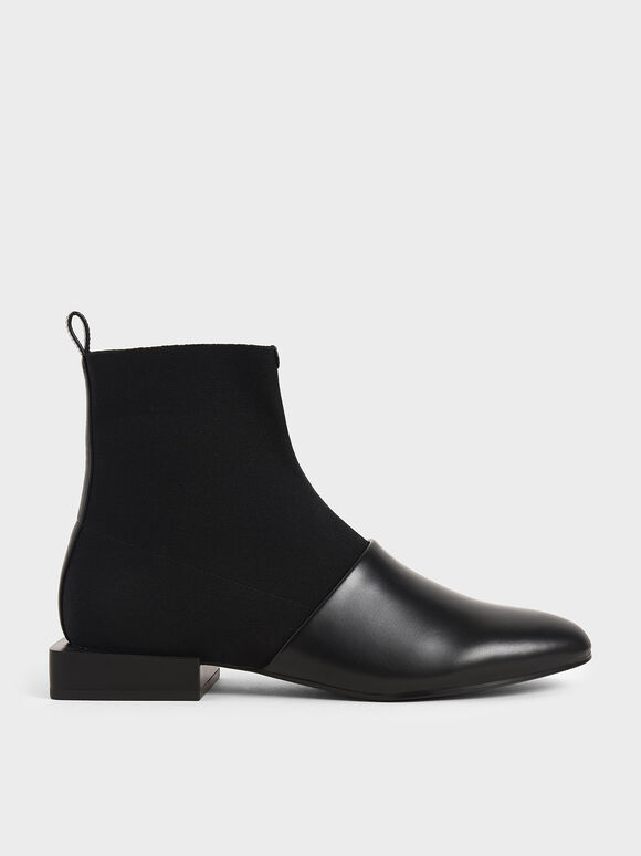 Slip-On Ankle Boots, Black, hi-res