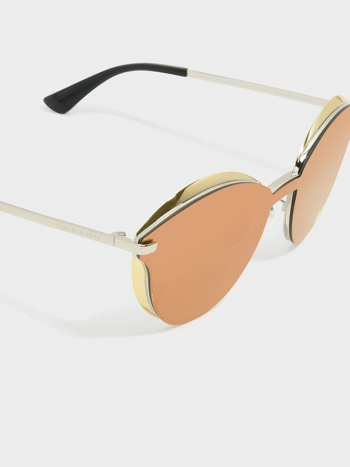 Butterfly Acetate Sunglasses, Gold, hi-res
