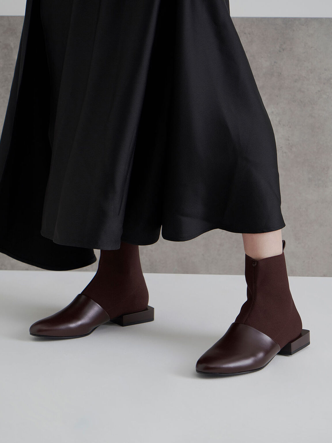 Slip-On Ankle Boots, Maroon, hi-res