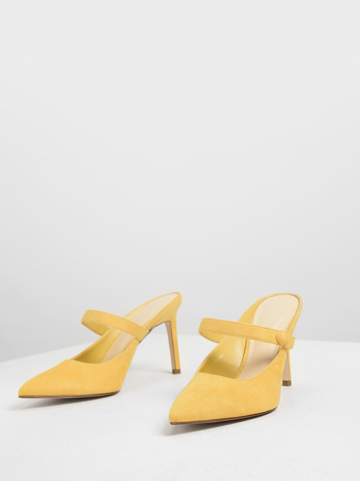 Mary Jane Mules, Yellow, hi-res