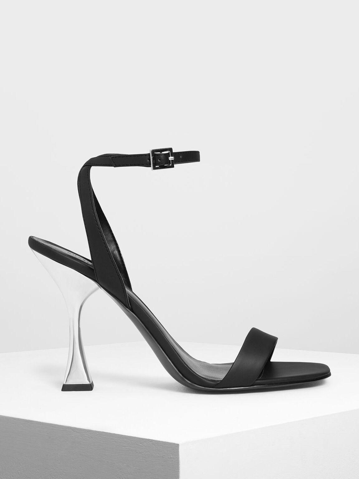 Sculptural Heels, Black, hi-res