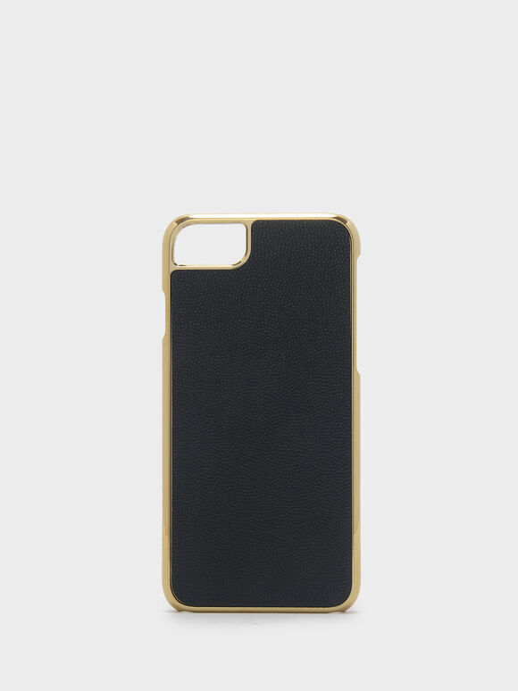 Textured iPhone Case, Black, hi-res