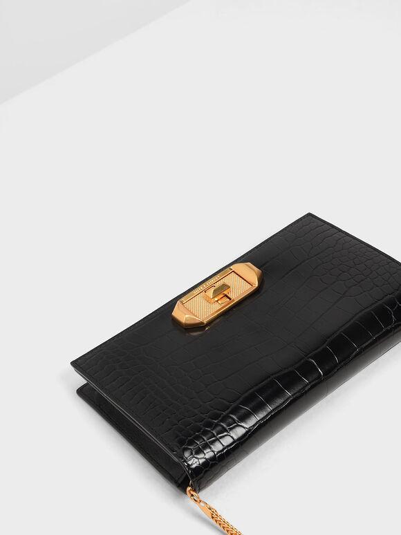 旋扣式長夾, 黑色特別款, hi-res