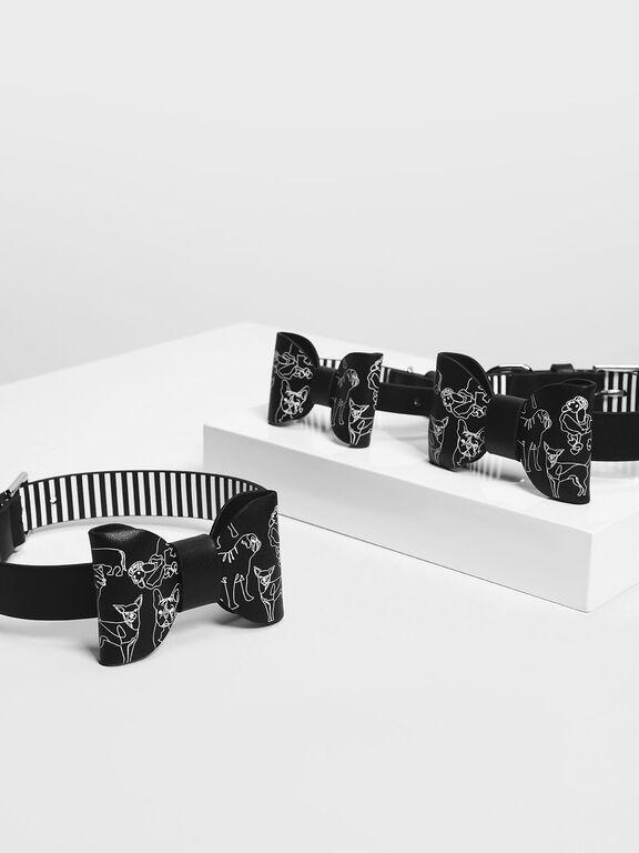 Printed Pet Collar, Black