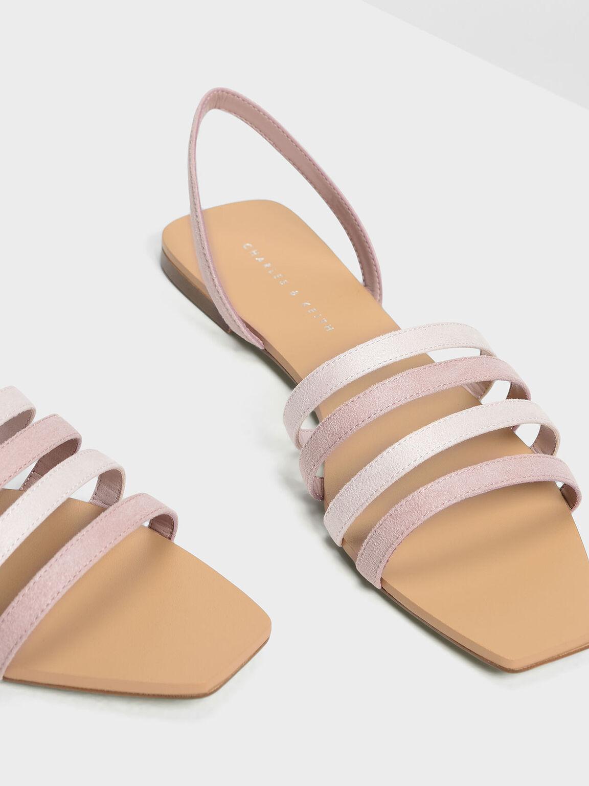 4-bar Sandals, Blush, hi-res