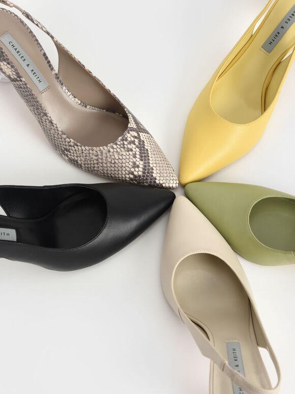 尖頭水晶跟鞋, 灰綠色, hi-res