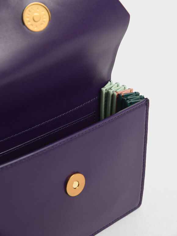 Mini Top Handle Clutch, Purple, hi-res