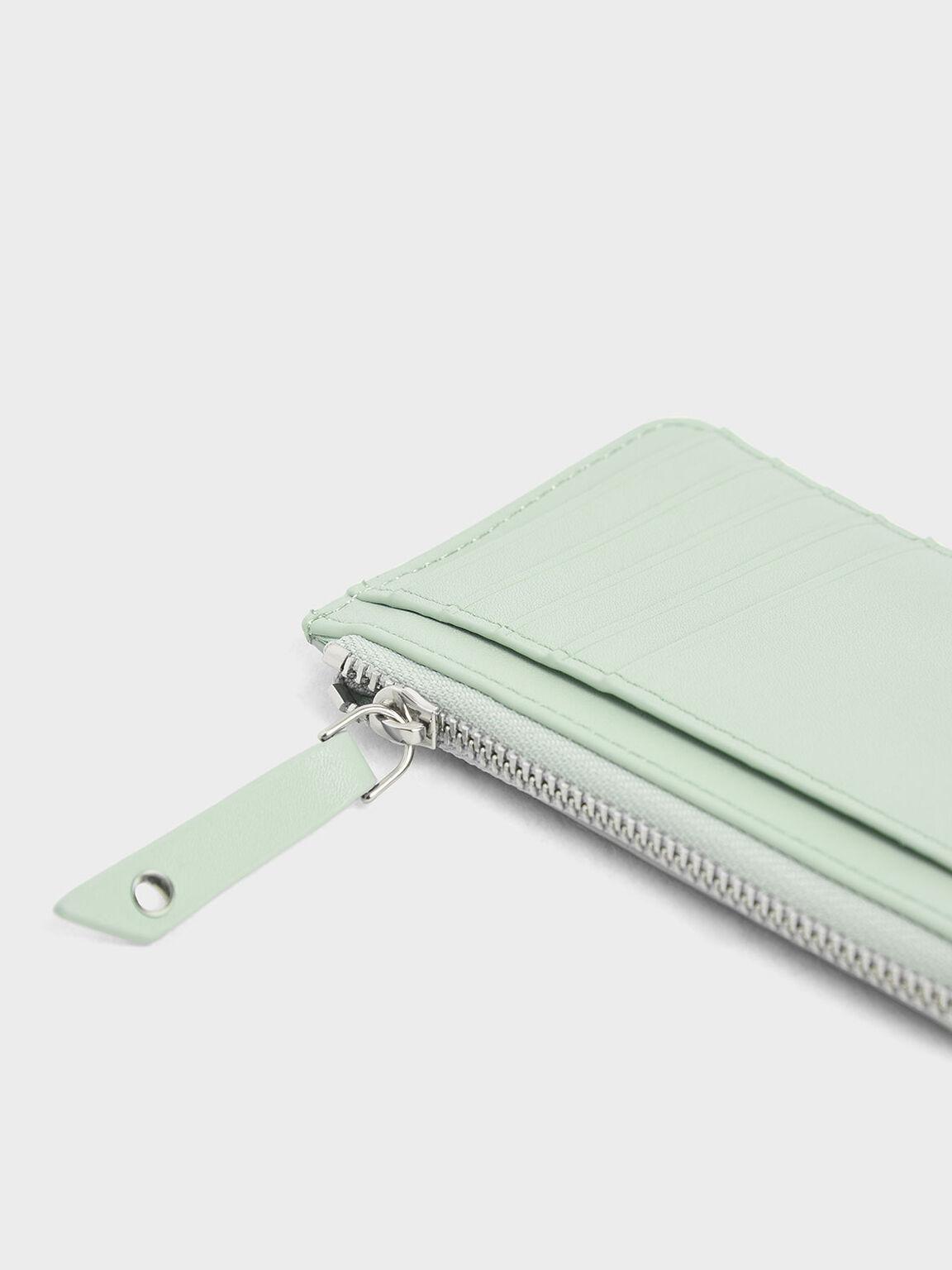 Zip Around Multi-Slot Card Holder, Mint Green, hi-res