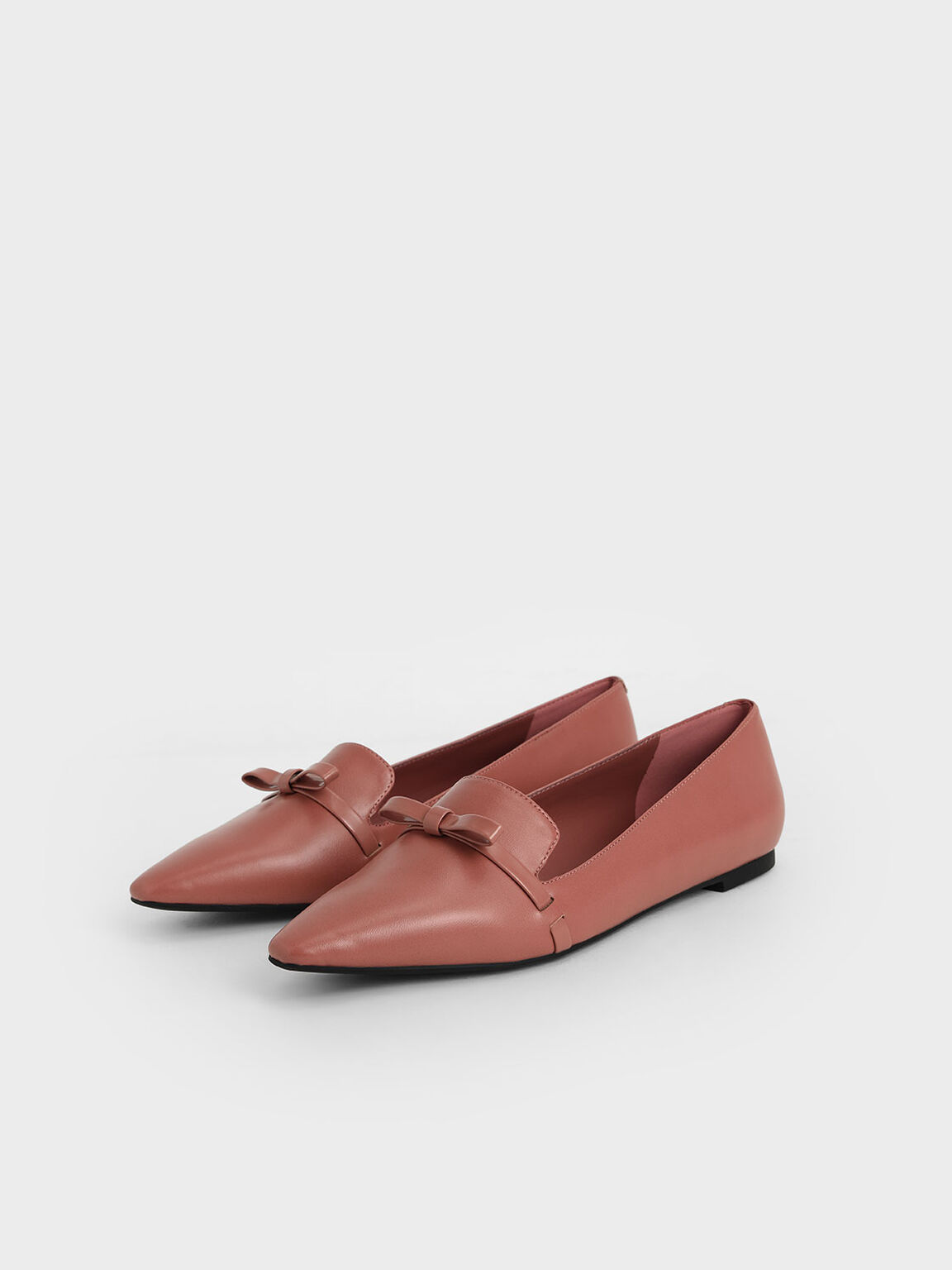 Bow Tie Loafers, Pink, hi-res