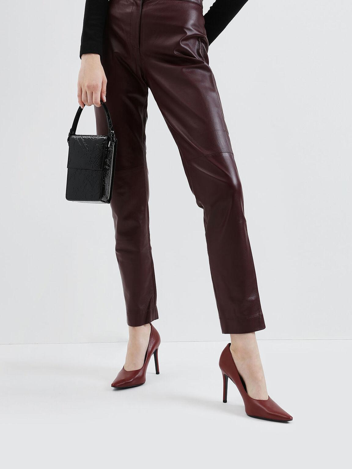 Wrinkled Effect Wallet, Black Textured, hi-res