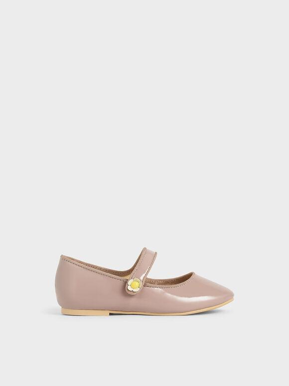 兒童瑪莉珍芭蕾鞋, 紫灰色, hi-res