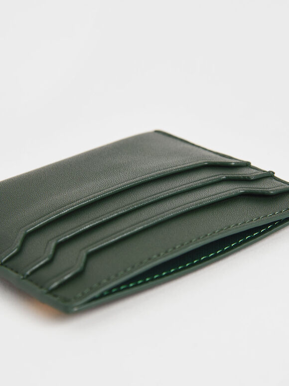 Two-Tone Multi-Slot Card Holder, Multi, hi-res