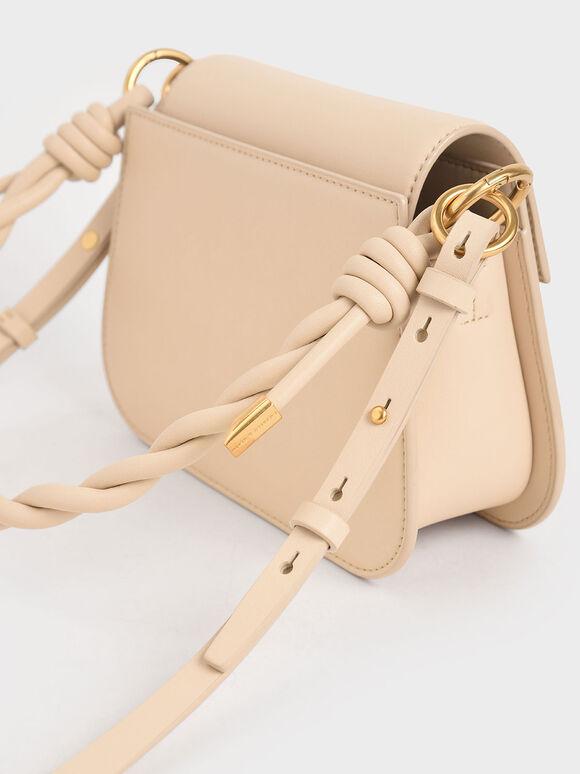 Twist Top Handle Bag, Nude, hi-res