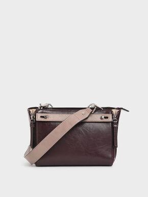 Two-Tone Rectangle Crossbody Bag, Multi
