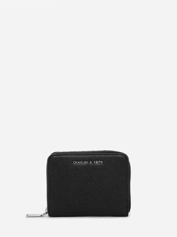 Basic Square Wallet, Black, hi-res