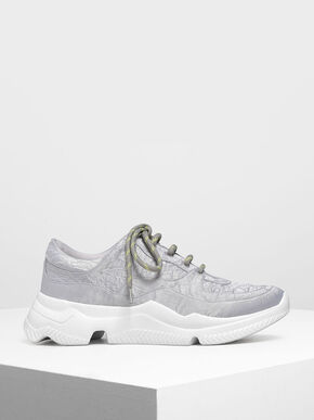 Chunky Sneakers, Silver