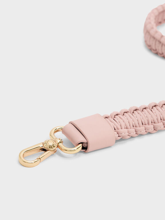 Knotted Weave Bag Strap, Blush