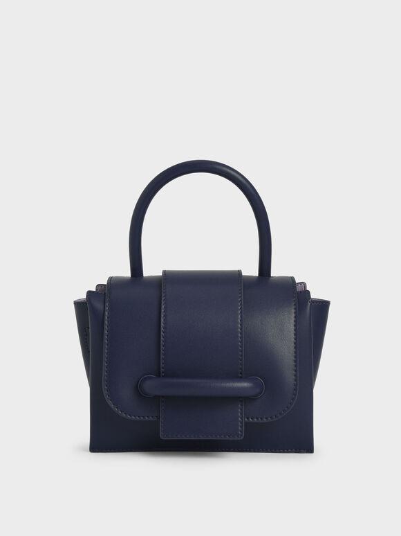 Chain Strap Mini Bag, Navy, hi-res