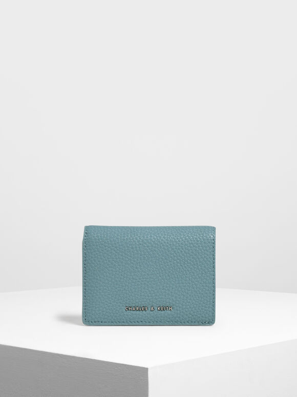 Classic Snap Button Wallet, Teal, hi-res