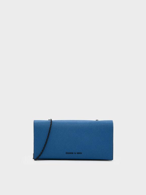Classic Long Wallet, Blue, hi-res