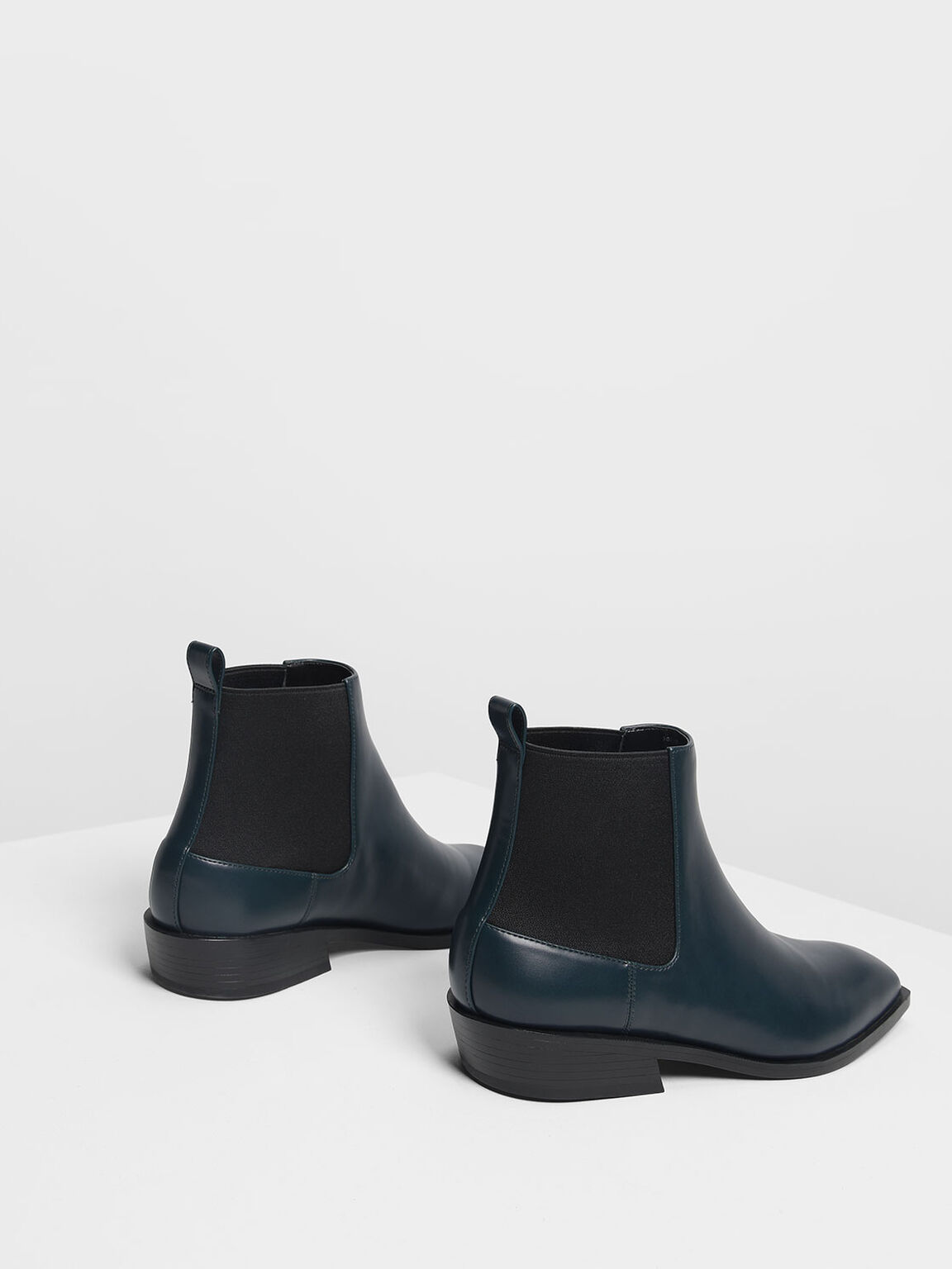 Classic Ankle Boots, Teal, hi-res
