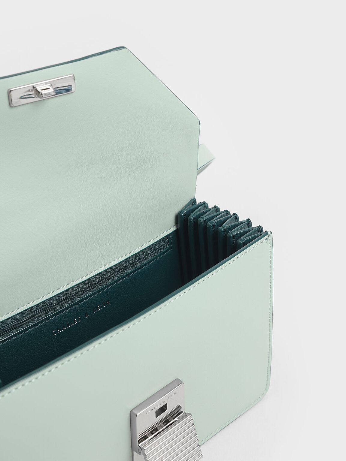 金屬方扣小型包, 薄荷綠, hi-res