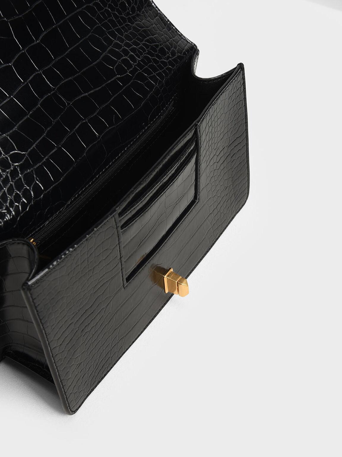旋扣式斜背包, 黑色特別款, hi-res